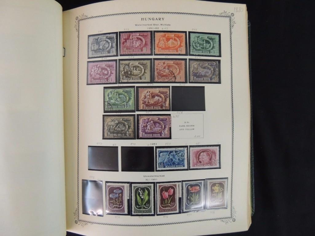 Group of 2 Hungary Postage Stamp Albums with 1,000's of - 8
