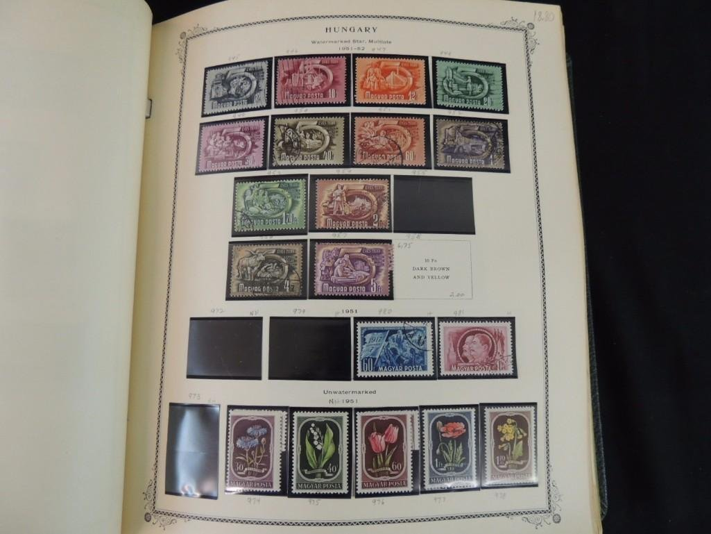 Group of 2 Hungary Postage Stamp Albums with 1,000's of - 9