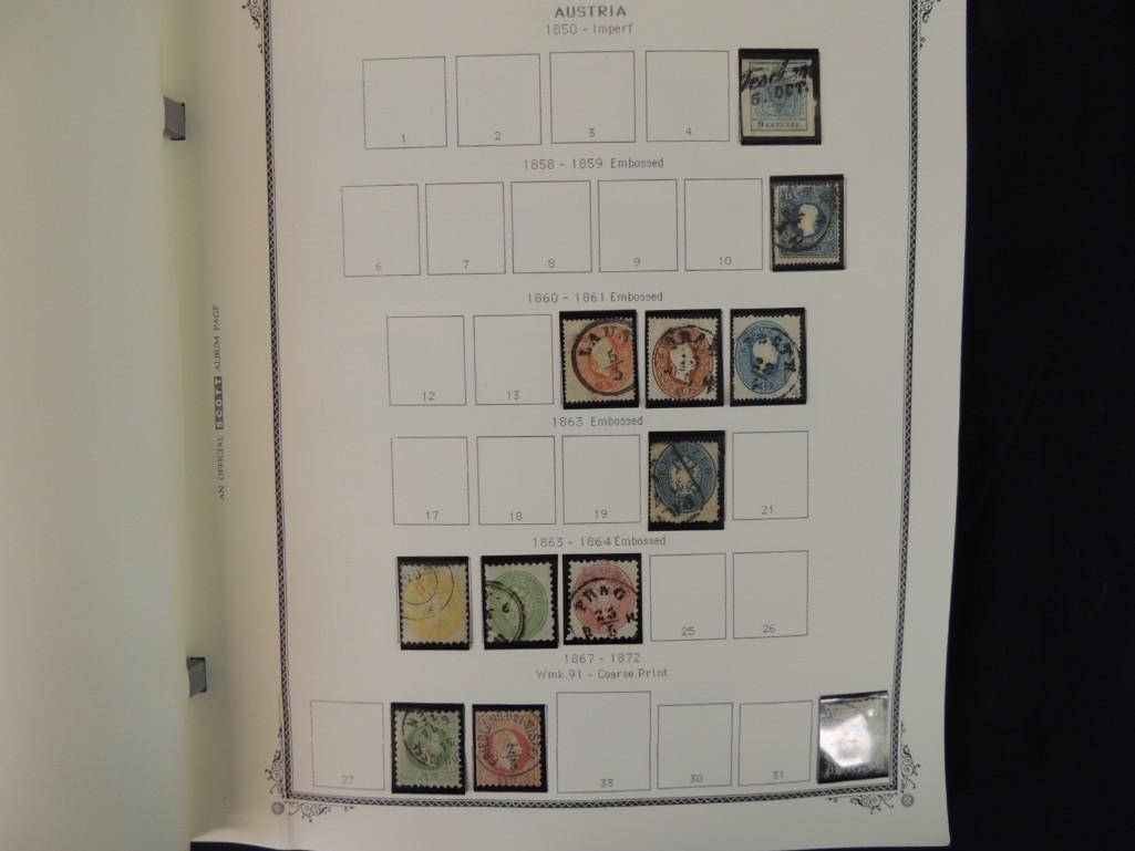 Austria Postage Stamp Album Dates from 1850-1980's - 2