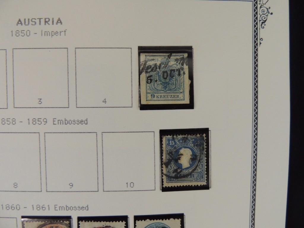 Austria Postage Stamp Album Dates from 1850-1980's - 3