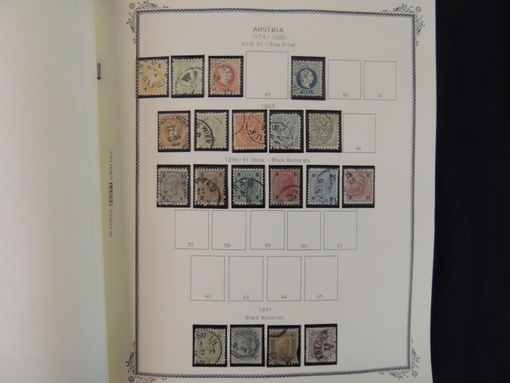 Austria Postage Stamp Album Dates from 1850-1980's - 6