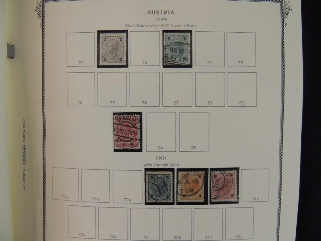 Austria Postage Stamp Album Dates from 1850-1980's - 7