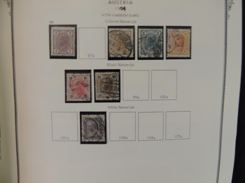 Austria Postage Stamp Album Dates from 1850-1980's - 8
