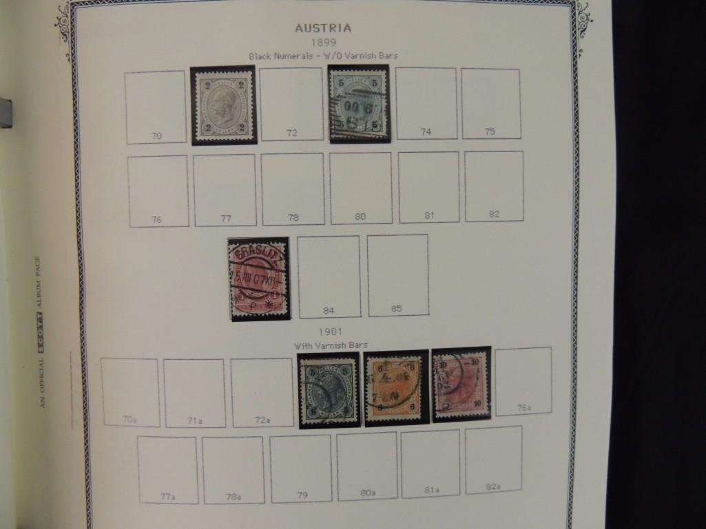 Austria Postage Stamp Album Dates from 1850-1980's - 9