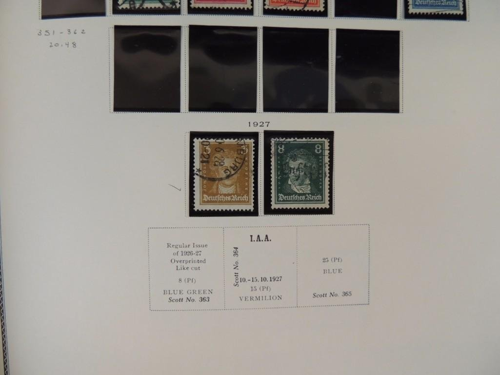 German Postage Stamp Album, Dates from 1874-1949 - 10