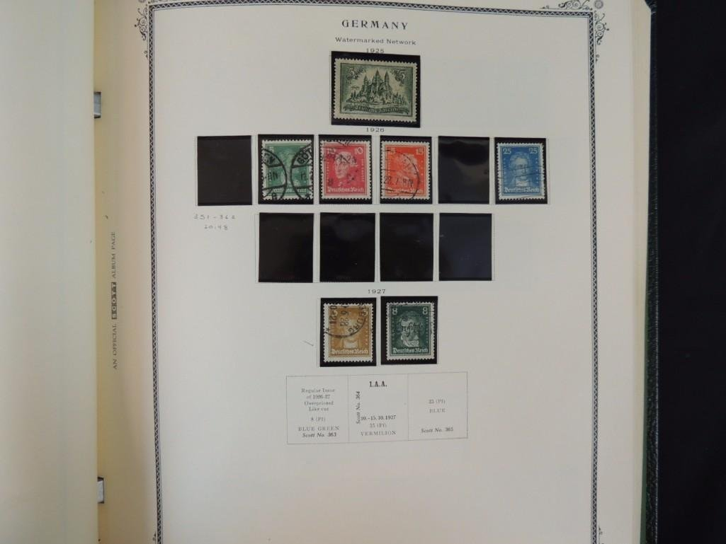German Postage Stamp Album, Dates from 1874-1949 - 8