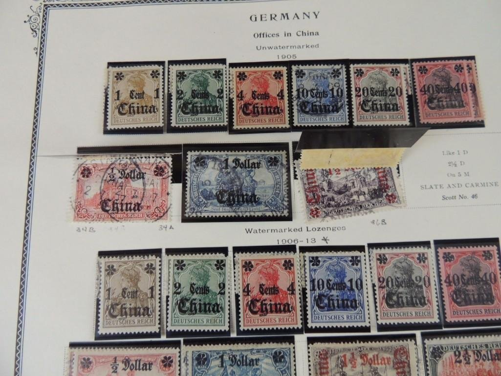 Postage Stamp Collection of German Offices in China - 10