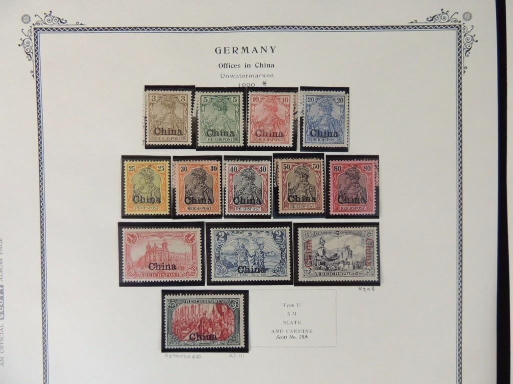 Postage Stamp Collection of German Offices in China - 2