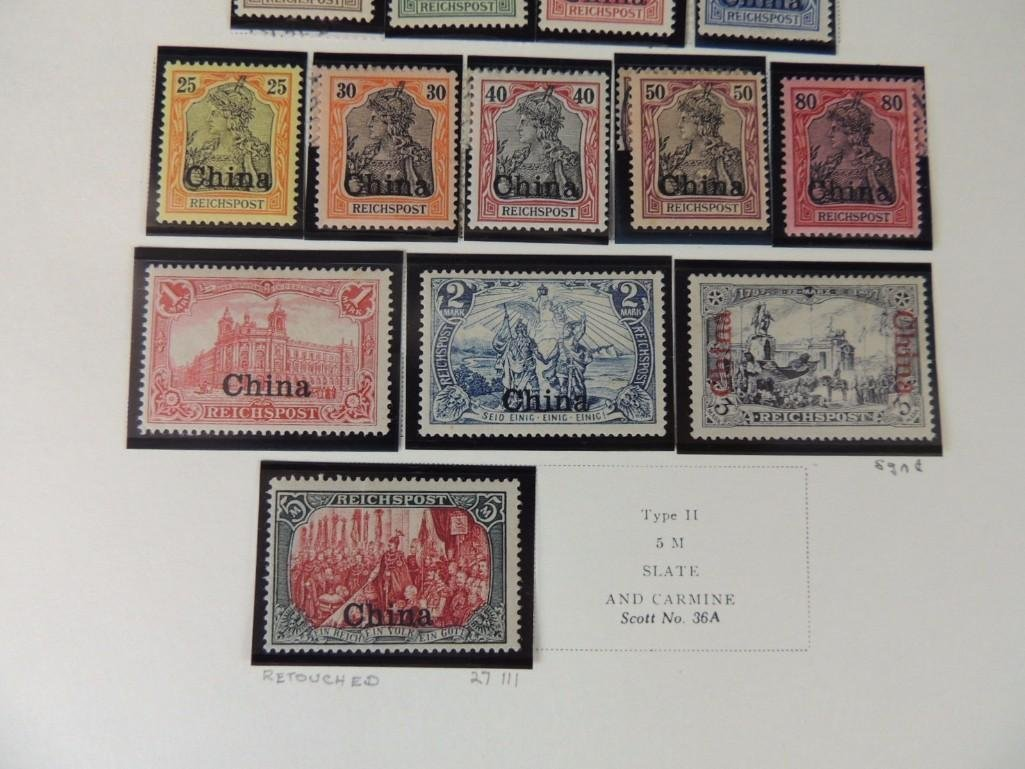 Postage Stamp Collection of German Offices in China - 4