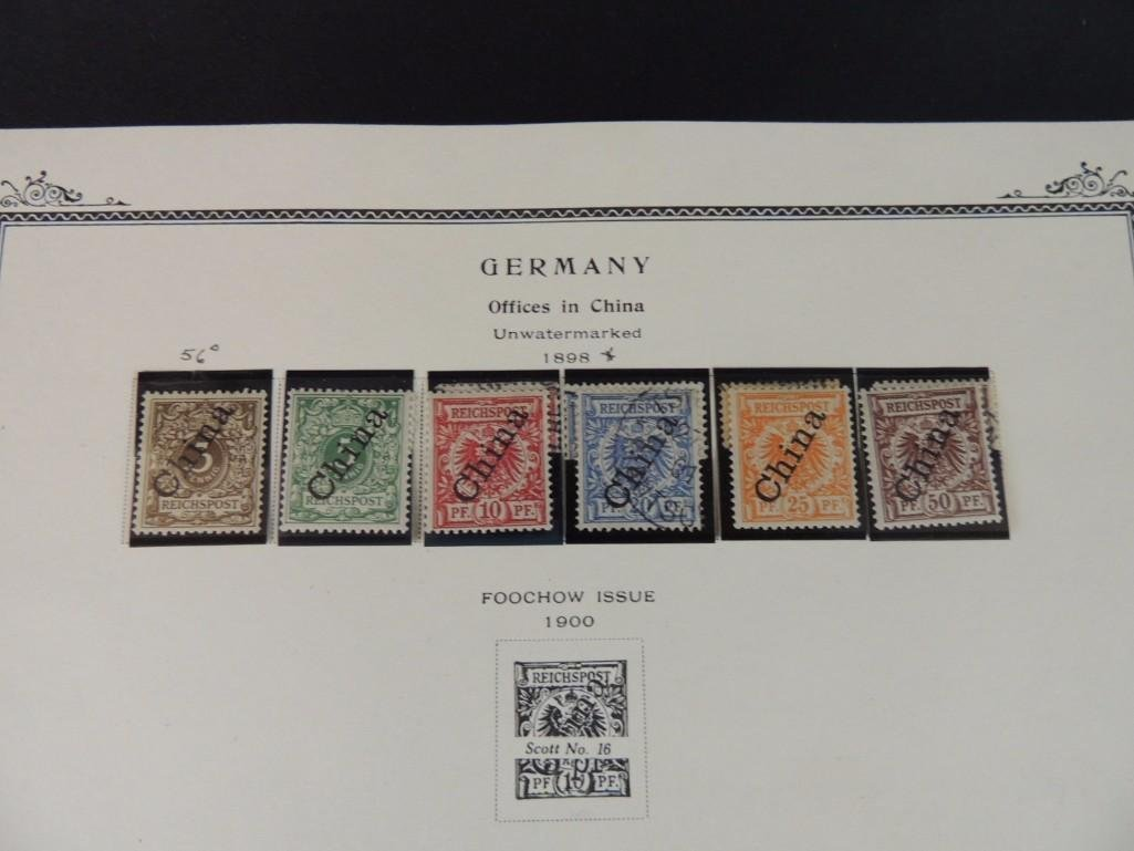 Postage Stamp Collection of German Offices in China - 5