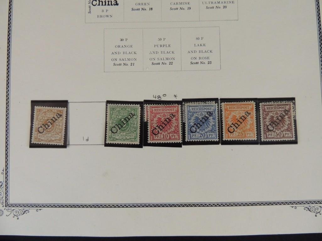 Postage Stamp Collection of German Offices in China - 7