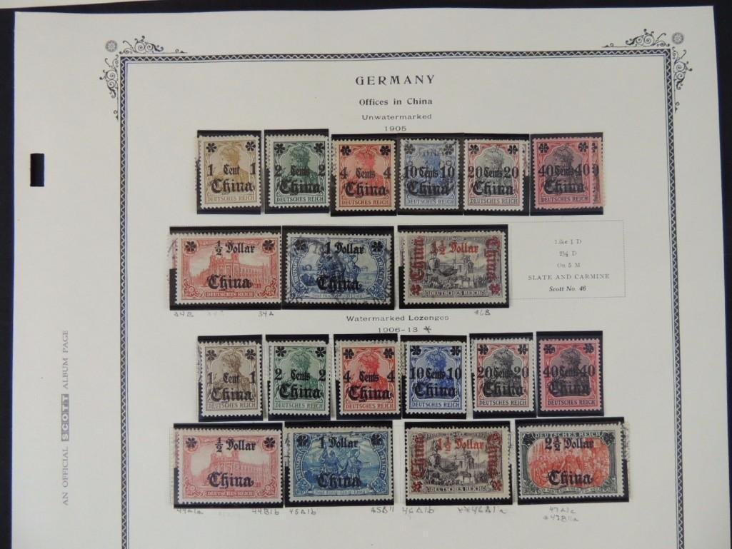 Postage Stamp Collection of German Offices in China - 8