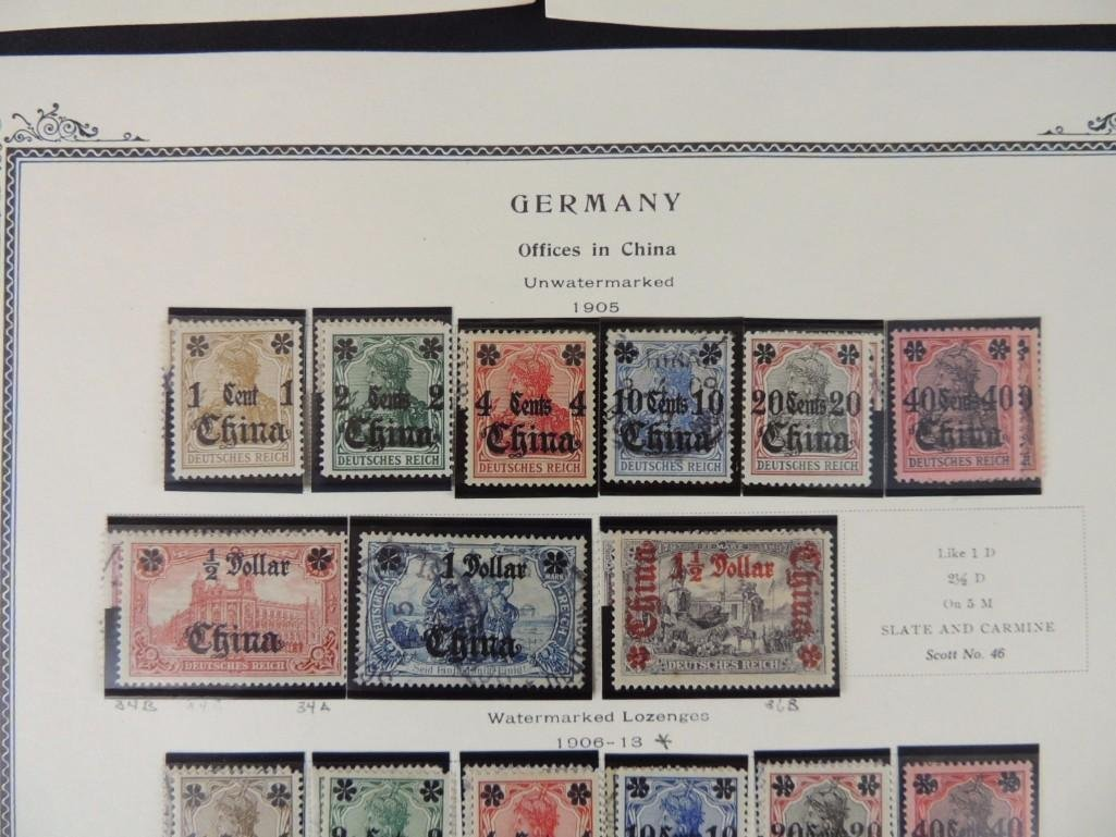 Postage Stamp Collection of German Offices in China - 9
