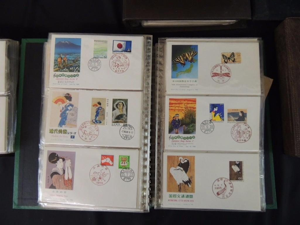 Group of 9 Japanese and Chinese First Day Issue - 3