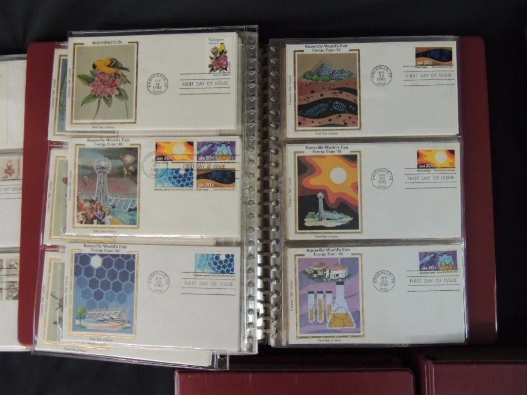 Group of 5 First Day Issue and First Day Cover Albums - 4