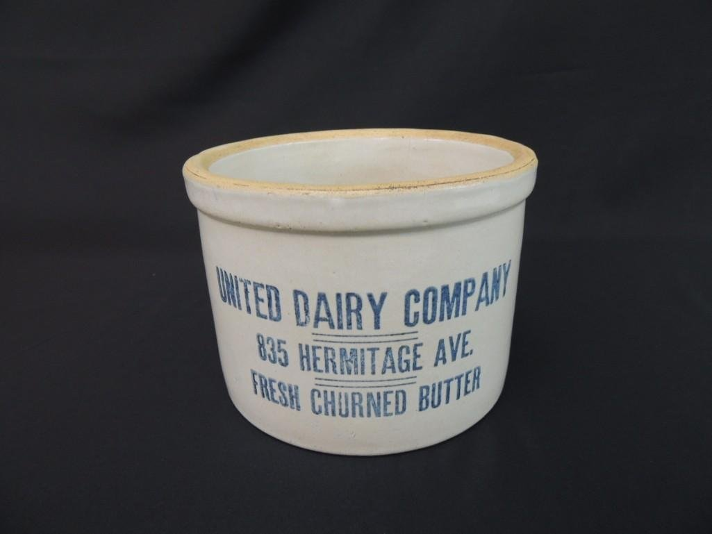 United Dairy Company Fresh Churned Butter Advertising