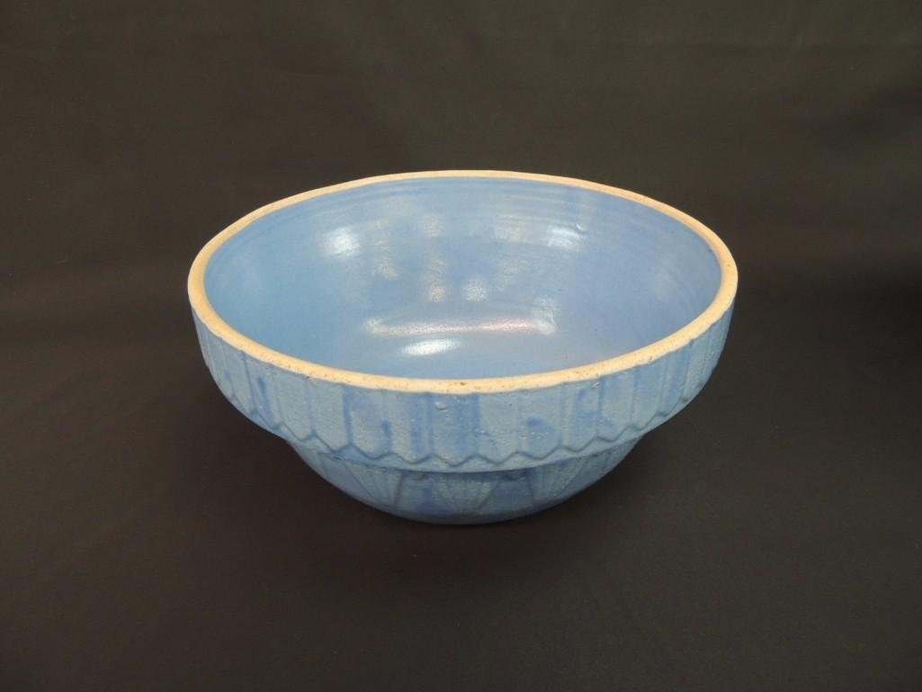 Primitive Blue Stoneware Bowl  - 2
