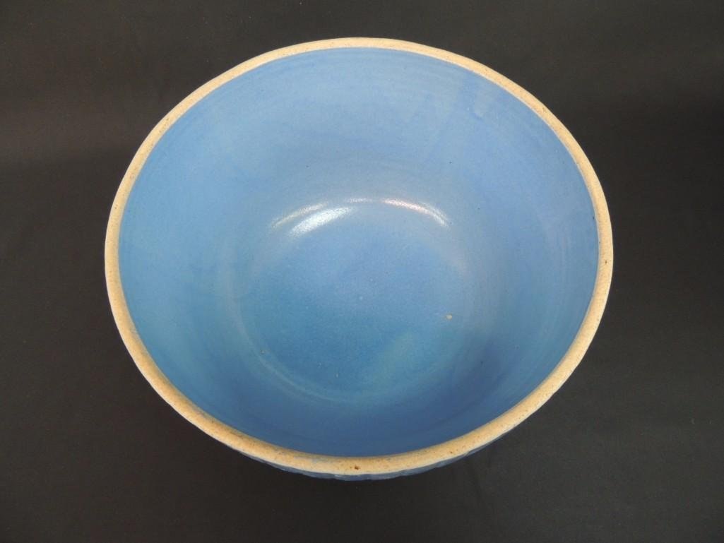 Primitive Blue Stoneware Bowl  - 3