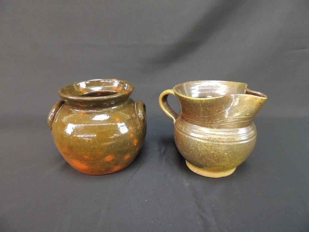 Jugtown Stoneware Group of 2 Pitcher and Bowl