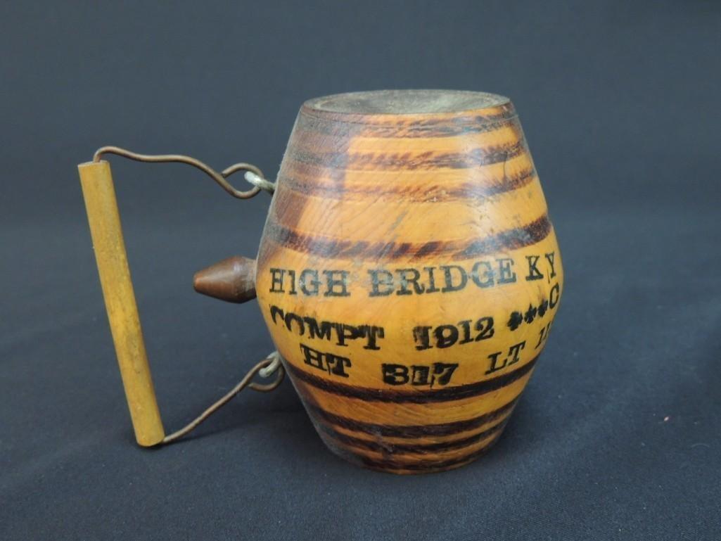 High Bridge KY Compt 1912 Advertising Miniature Wood