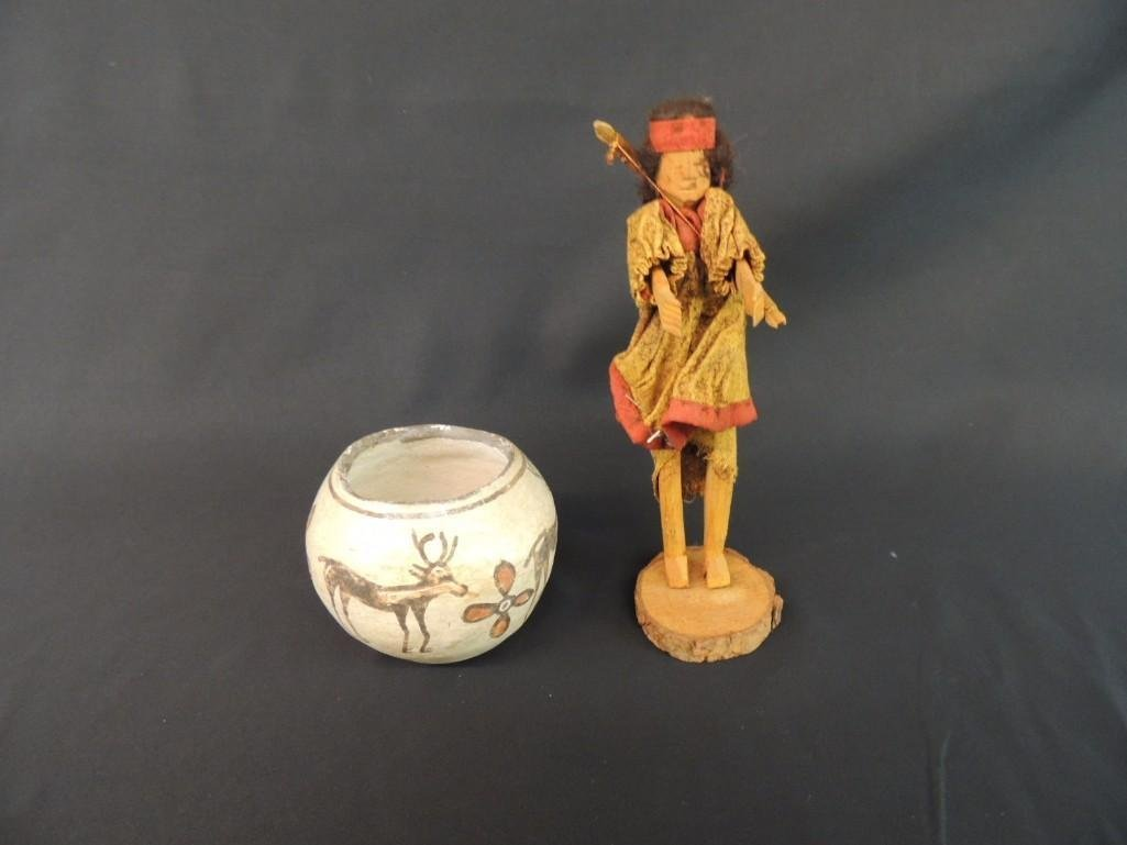 Native American Indian Group of 2 Featuring Bowl and
