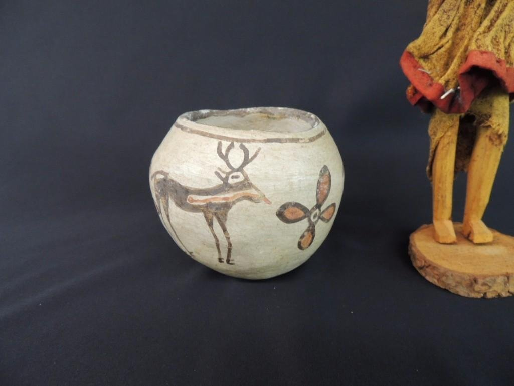 Native American Indian Group of 2 Featuring Bowl and - 2