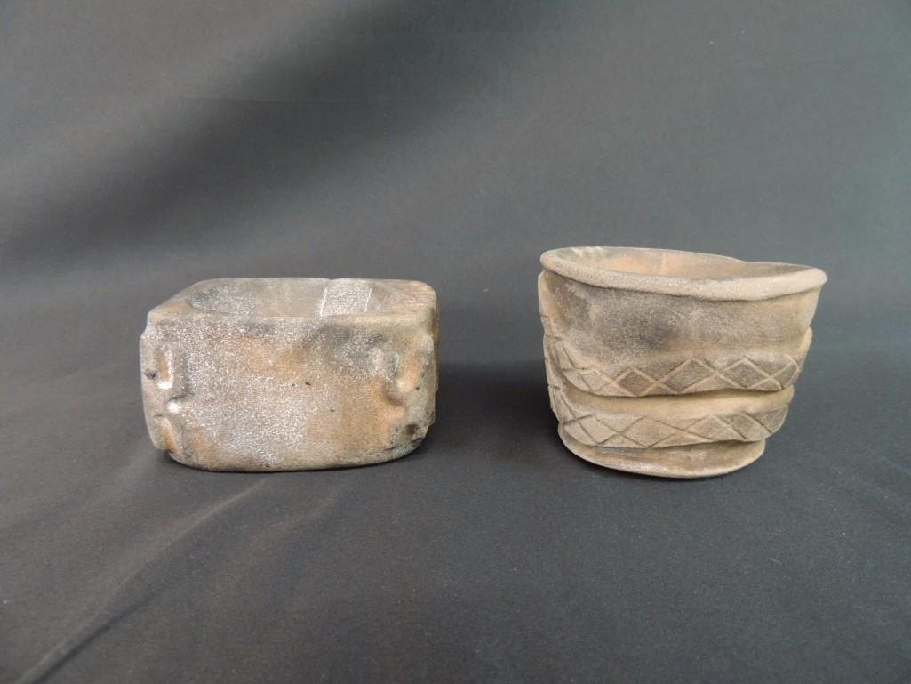 Group of 2 Stone Medicine Jars from the Grant Territory
