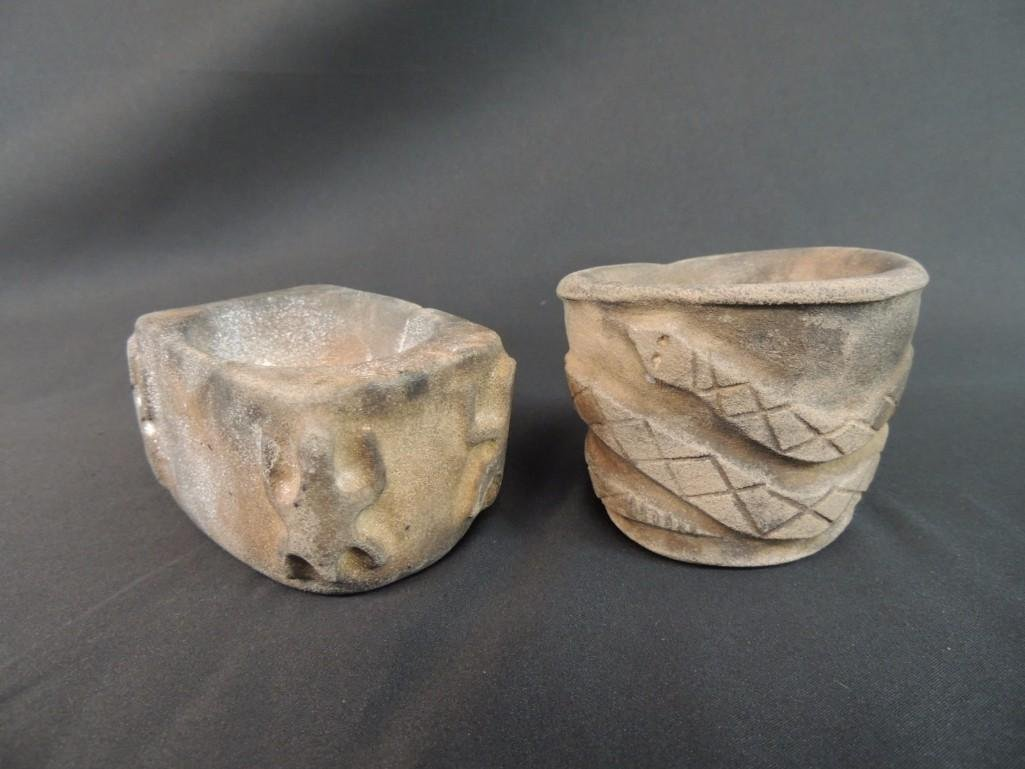 Group of 2 Stone Medicine Jars from the Grant Territory - 2