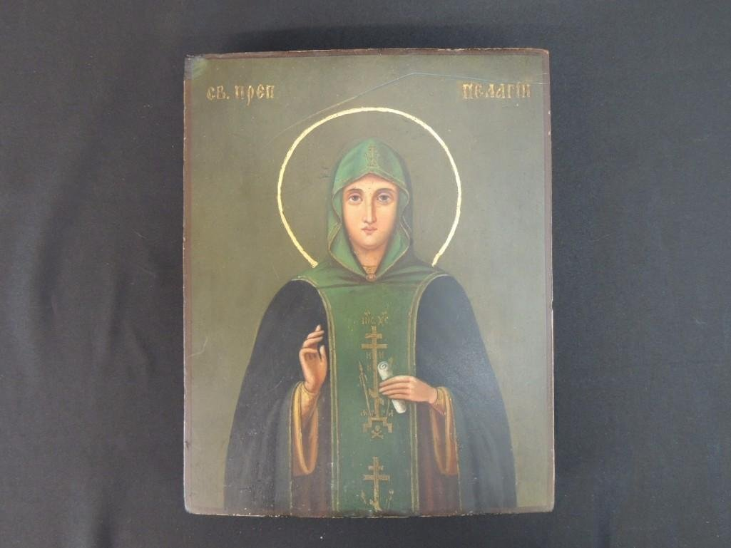 Wood Painting of Pelagia the Penitent