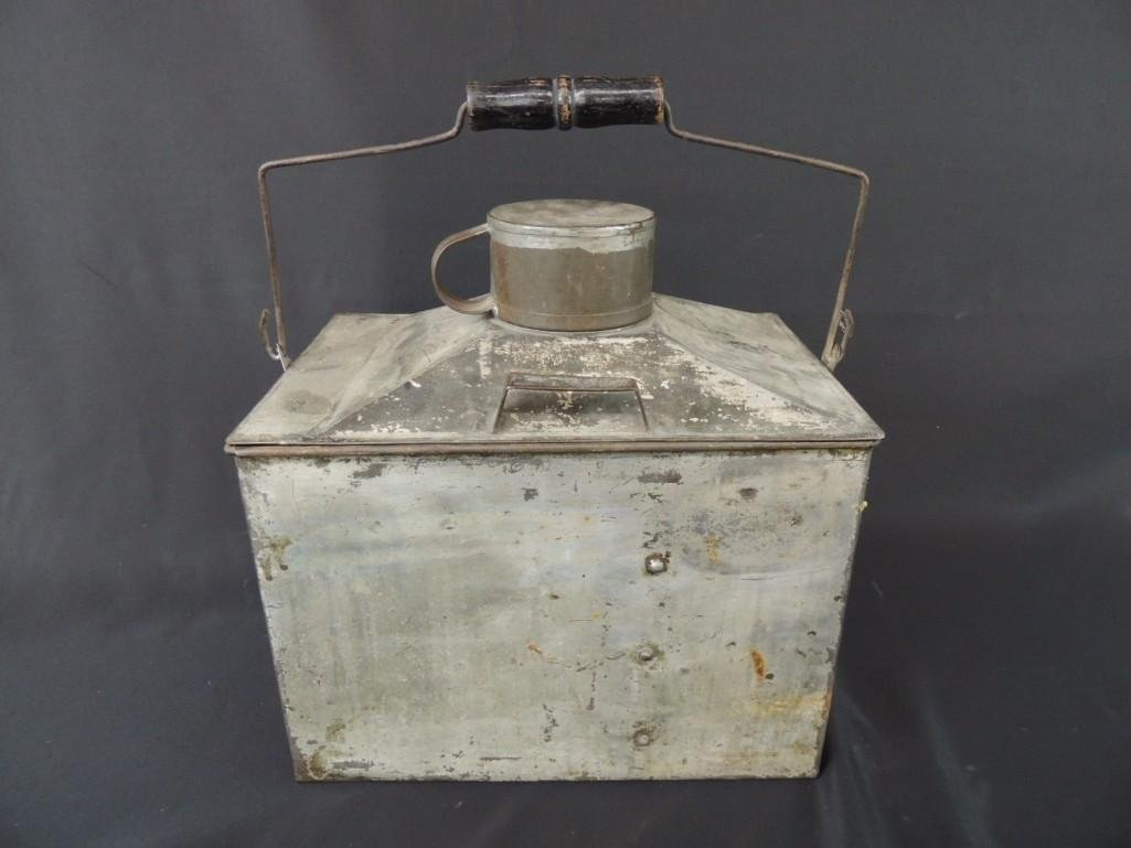 Rare Miners Lunch Box with Kerosene Heater
