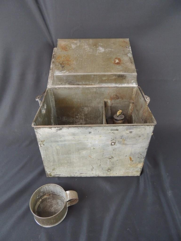 Rare Miners Lunch Box with Kerosene Heater - 2