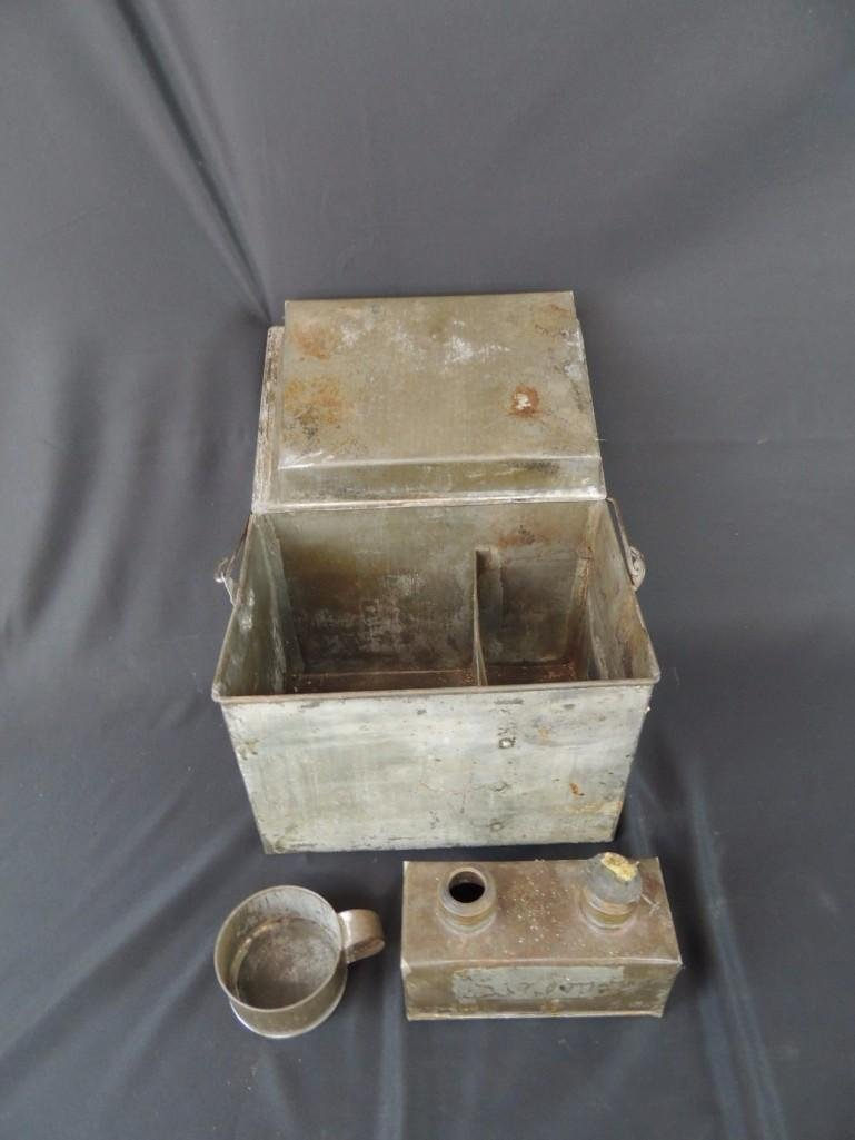 Rare Miners Lunch Box with Kerosene Heater - 3