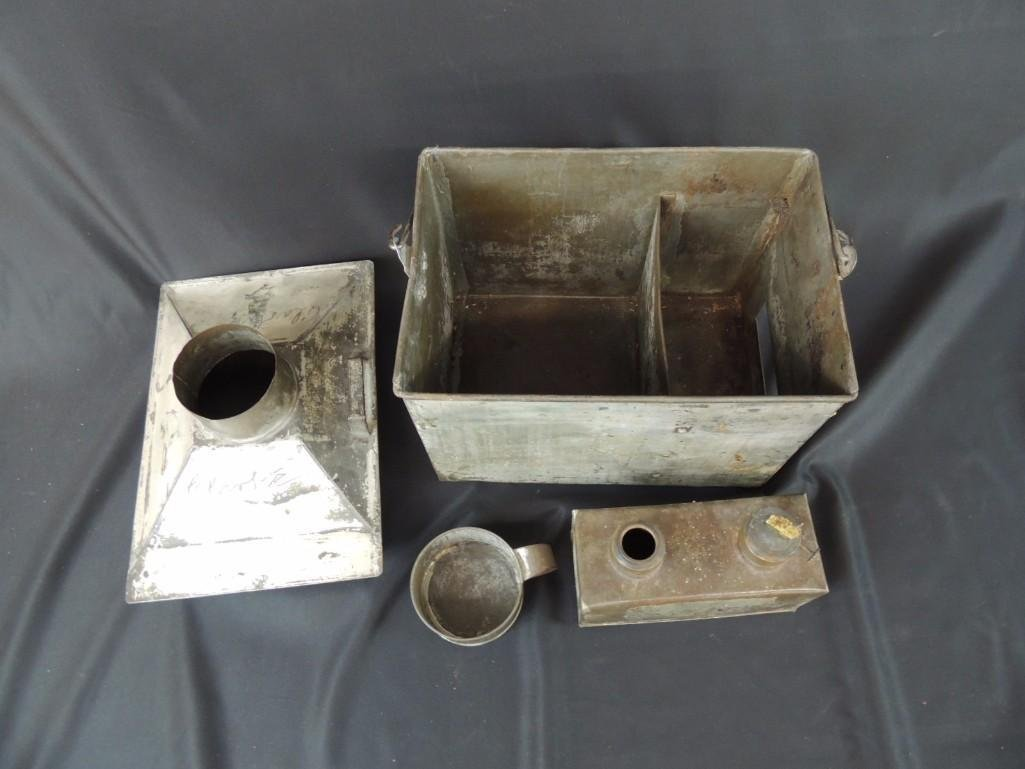 Rare Miners Lunch Box with Kerosene Heater - 5