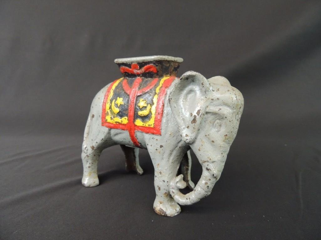 Cast Iron Elephant Coin Bank