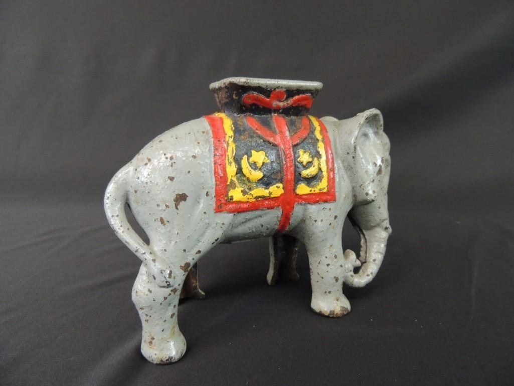 Cast Iron Elephant Coin Bank - 2