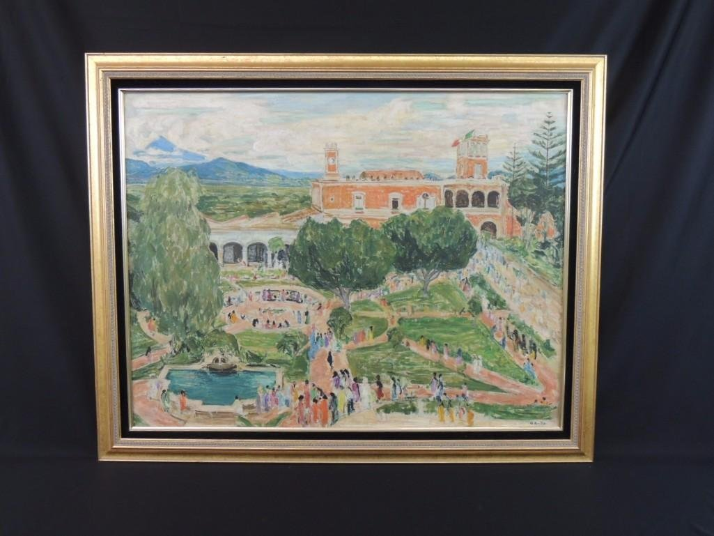Palace of Cortex Cuernavaca Mexico Oil Painting by