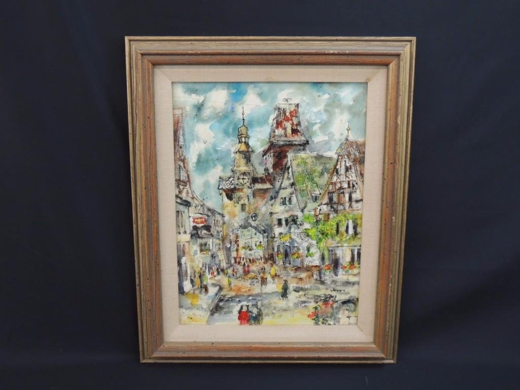 Original Water Color Signed by Artist Loren MacIver