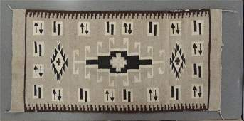 Antique Brown and Black Native American Indian Blanket