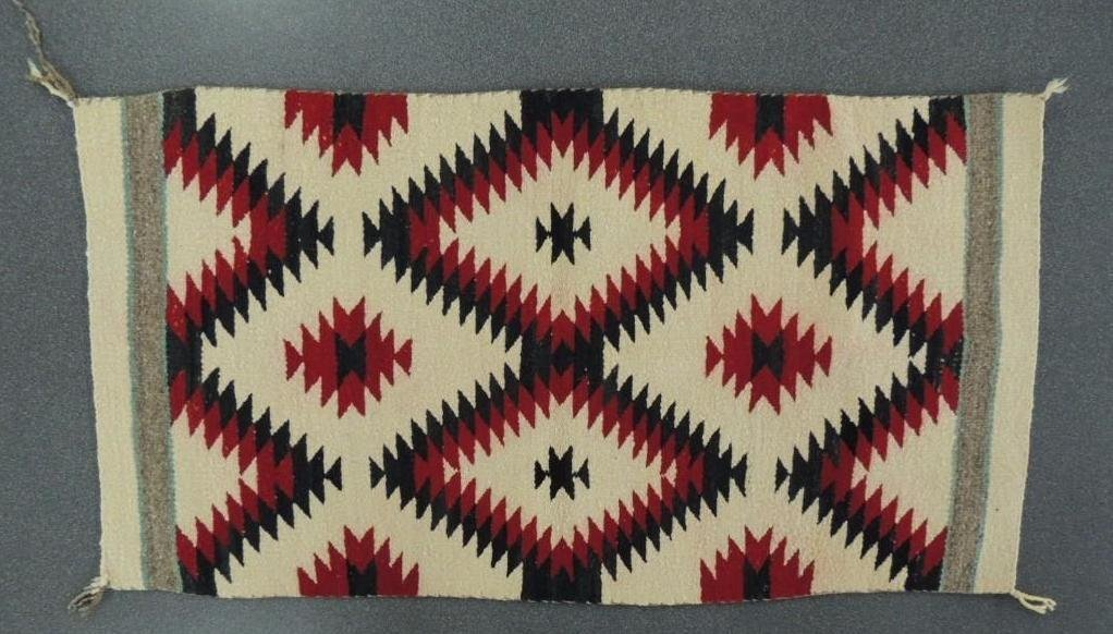 Antique Red and Black Native American Indian Blanket