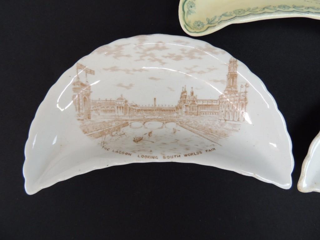 Group of 3 1893 Chicago World's Fair Bone Plates - 4
