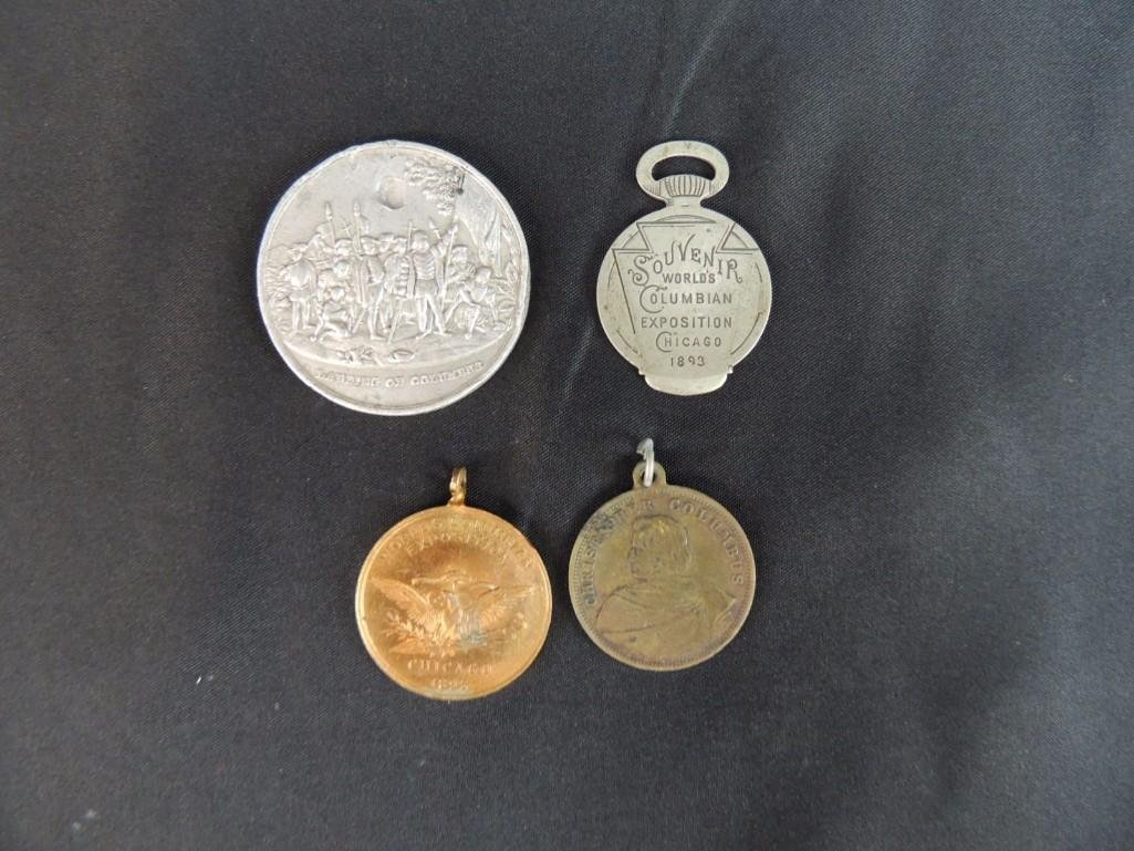 Group of 4 World's Columbian Exposition Souvenir Coins