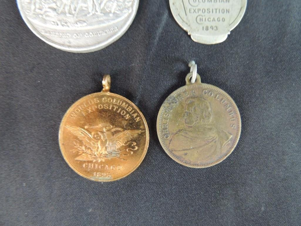 Group of 4 World's Columbian Exposition Souvenir Coins - 3