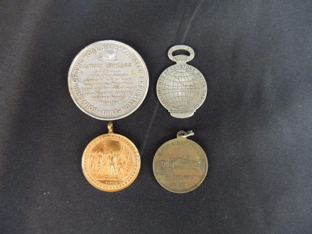 Group of 4 World's Columbian Exposition Souvenir Coins - 5
