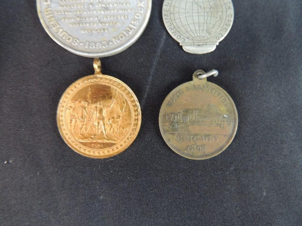 Group of 4 World's Columbian Exposition Souvenir Coins - 7