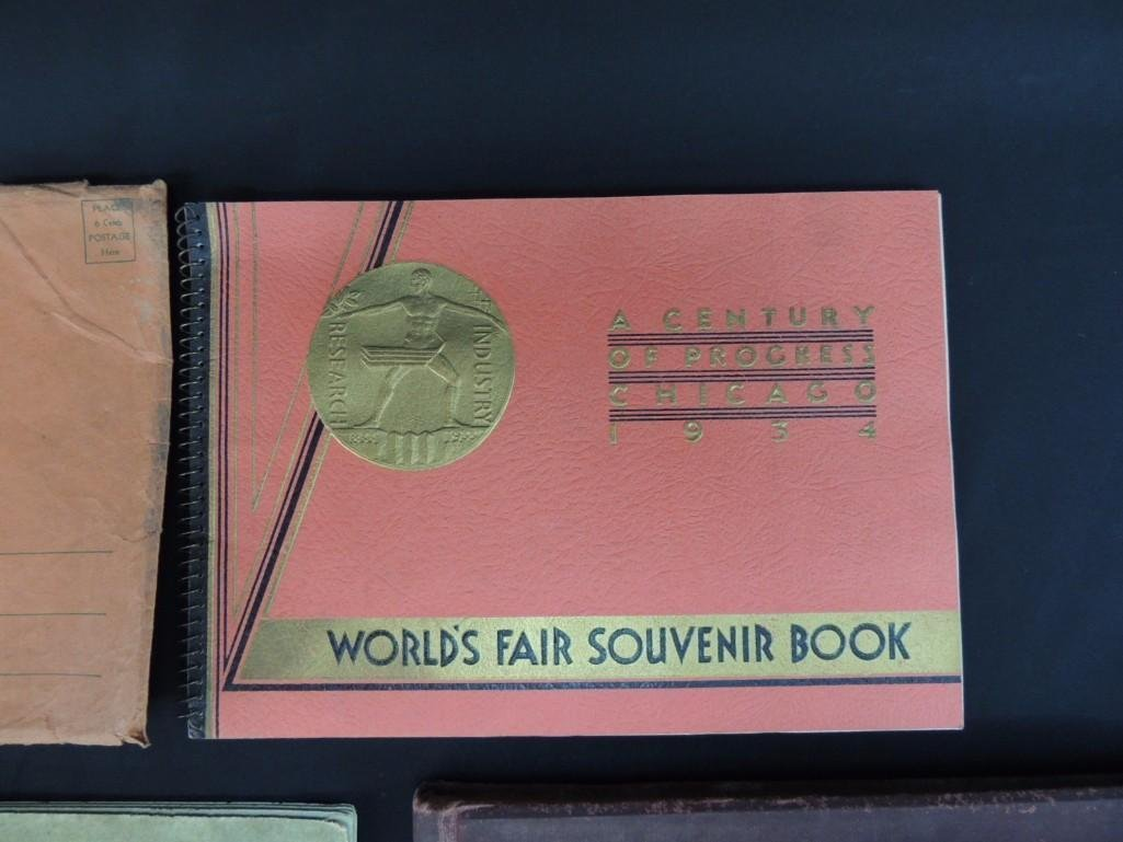 Group of 4 1893 and 1933 Chicago Worlds Fair Souvenir - 2