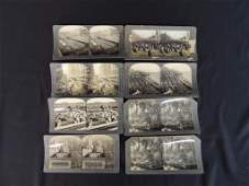 1893 Worlds Fair and Chicago Stereo views Group of 8