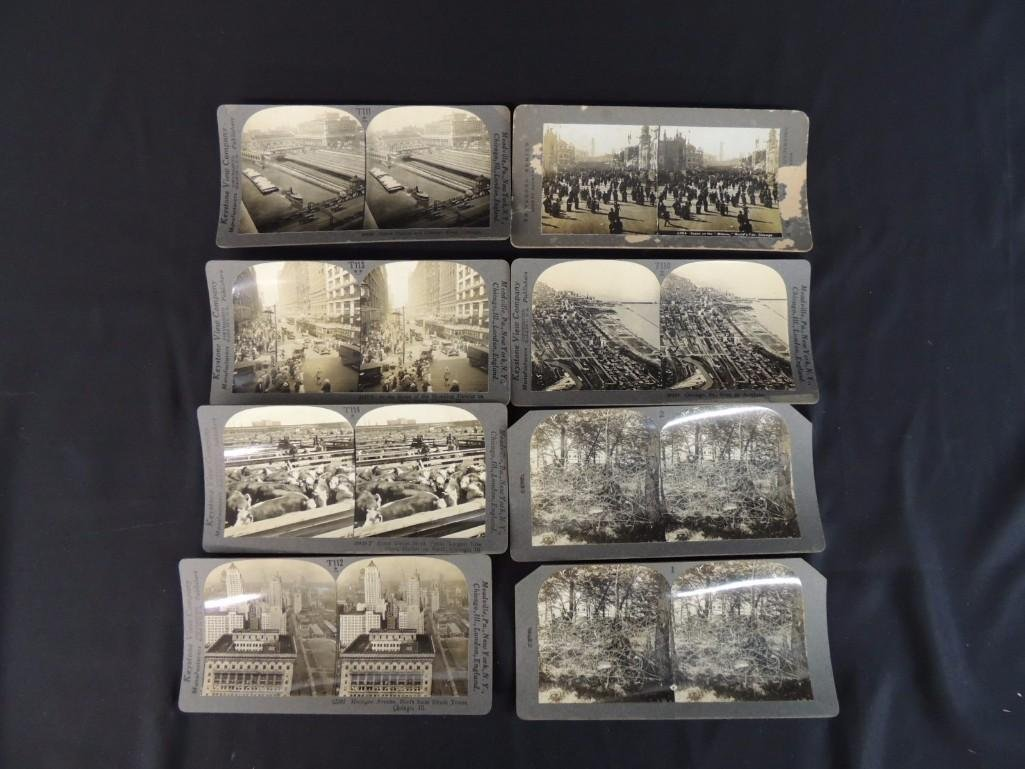 1893 World's Fair and Chicago Stereo views Group of 8