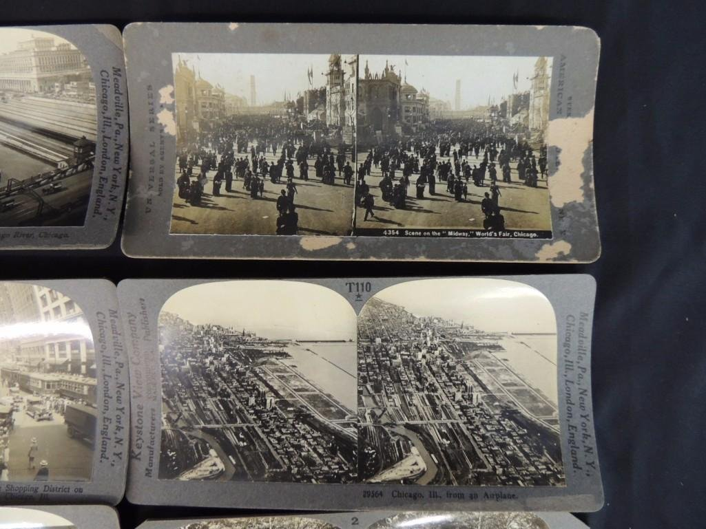 1893 World's Fair and Chicago Stereo views Group of 8 - 2