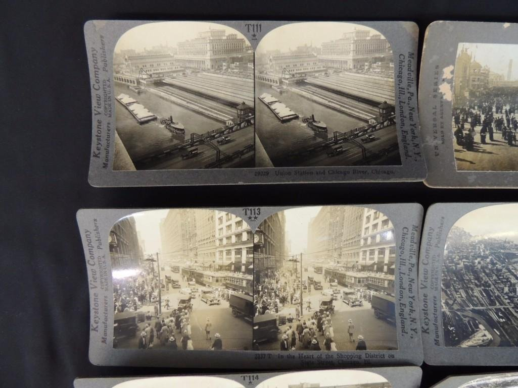 1893 World's Fair and Chicago Stereo views Group of 8 - 5