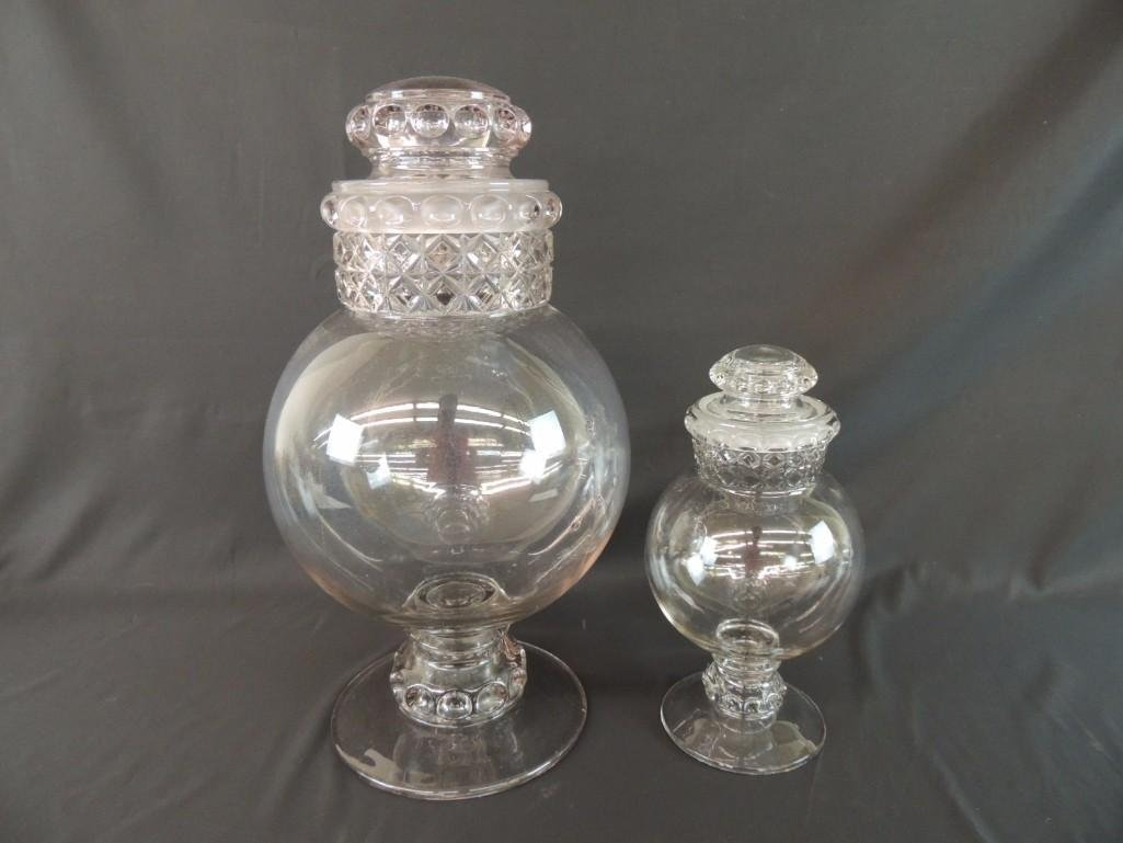 Group of 2 Antique Apothecary Jars